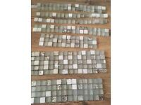 Glass mosaic tile beading