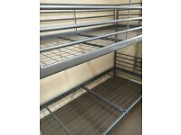 METAL BUNK BED FRAME. EXCELLENT CONDITION