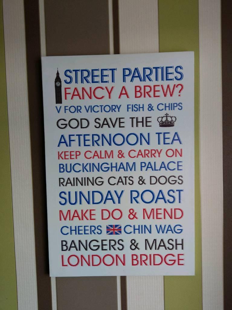 British themed canvas