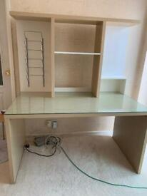 Ikea Mikael Beech Full Set Computer Office Desk Work