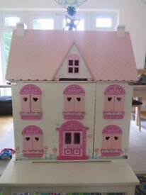 ELC Rosebud Cottage Dolls House and Accessories