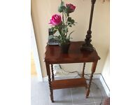 Antique Style Hall Table Wuth Barley Legs