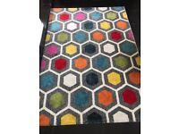 Large multi-coloured rug from Dunelm