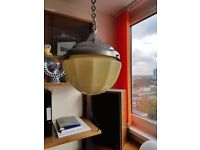 Art Deco Ceiling Light Globe Glass Shade with Chrome holder and Chain