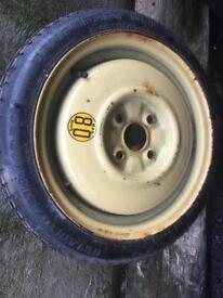 115/70 14 inch space saver 4 x 100 Mazda Mx5 Vauxhall Astra corsa