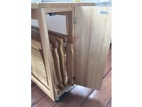 Wooden leaf table and 4 chairs