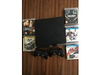 PS3 slimline 250gb 2 controllers and games