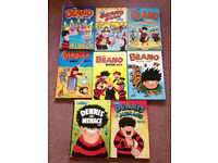 1990s Beano Books and Dennis The Menace Annuals