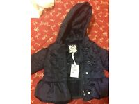 Next Baby Girl Jacket-Brand New- 6-9 Months with Hooded Zip system-Free Post