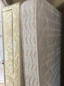 Single bed 3ft excellent condition silent night sprung divan with two drawers