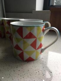 Five linea mugs
