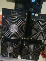 4 ANTMINER S3 BITCOIN MINERS WITH PSU