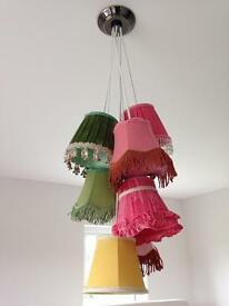 Beautiful vintage style 7 light cluster