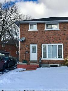 Modern Semi near Fairview Mall with large fenced yard!