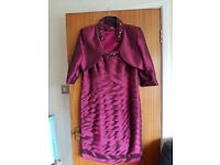Mother of the bride dress, jacket and fascinator – Size 18 – EXCELLENT CONDITION - £100