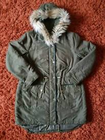 Dorothy Perkins 16 Khaki Autumn/Winter Parka