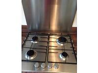 Electrolux EGG6242 Gas Hob, Cooker Hood & Splashback