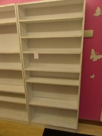 8 x WHITE SHELVING UNITS