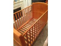 Solid pine 'Winnie the Pooh' cot/ cotbed