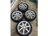 Honda Civic FN2 Type R OEM 18 Alloys with tyres