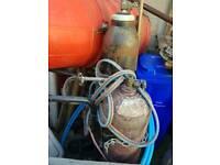 Gas oxy acetylene welding bottles trolley cutting