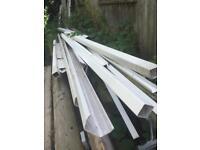 Upvc white gutter 114mm wide