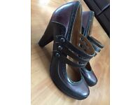 Purple and Black heels - size 7
