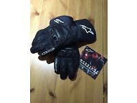 Alpinestars SP-2 gaunlet leather motorcycle gloves black M medium