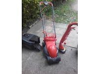 Flymo lawnmower and strimmer