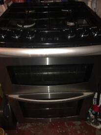 Grill with oven