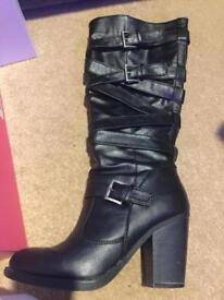 Knee High Back boots - size 7