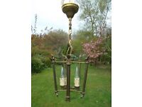 Very Pretty and unusual vintage French 1930's lantern (60)