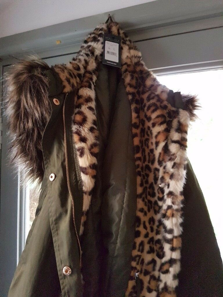 Womens new lined parka style coat
