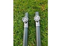 carp fishing 2 x Nash Storm poles