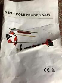 5 in 1 petrol chain saw, hedge clipper, pruner, brush cutter and strimmer faulty