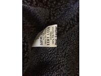 Leather jacket mens brown small