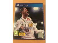 Fifa 18 with ultimate players pack PS4 Brand new
