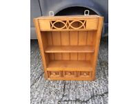 SOLID OAK KITCHEN WALL SHELVES SPICE DRAWERS