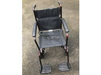 Roma Medical Foldaway Lightweight Aluminium Attendant Transit Wheelchair 1247