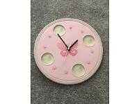 Decorative Butterfly Photo Frame Clock