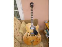 Washburn J3 Blonde Archtop Electric Guitar, pristine condition.
