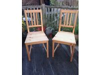 2 Ikea Stefan dining chairs