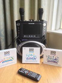Karaoke machine and compatible CDs