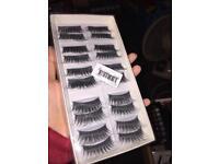 10 pairs of brand new eyelashes