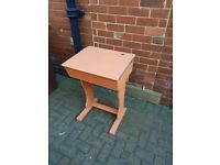 WOODEN SCHOOL DESK WITH HINGED LID
