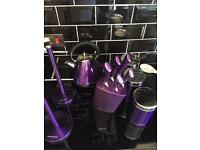Murphy Richards Kettle, mug tree, kitchen roll holder and tins