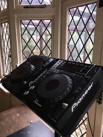 Pioneer decks-CDJ-850-USB. Behringer mixer DJX750, RCF Speakers/stands-800w, with amps. Headphones