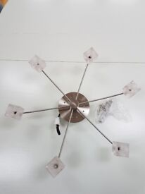 Ice cube style 6 spot light fitting (used but near perfect condition)