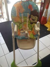 high chair with no tray