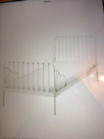 Ikea extendable MINNEN bed frame with slatted bed base